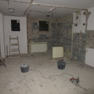 Průběh rekonstrukce koupelny.
