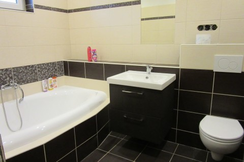 Koupelna Vážany po přestavbě.