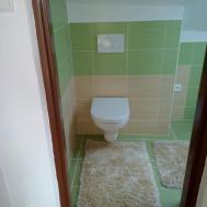 Koupelna po rekonstrukci - pohled na toaletu.