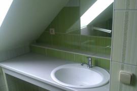 Vybudování nové koupelny – půdní vestavba RD Mrlínek